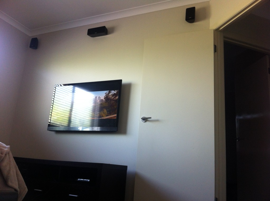 Tv Wall Mounted and Speakers Wall Mounted