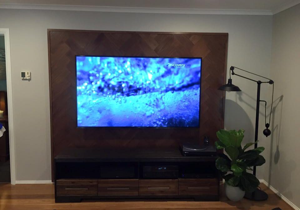 Tv Wall Mounted on Feature Wall