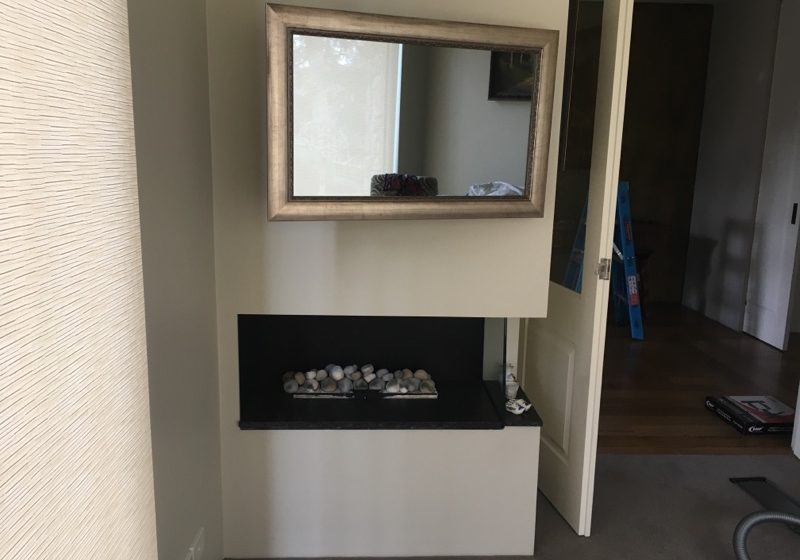 """Tv Guy Hang my tv mirror frame attached with 2 way glass 50"""" LG"""